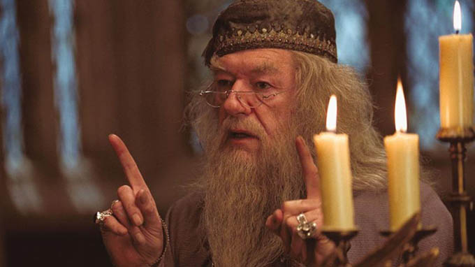 "Quality: Original.   Film Title: Harry Potter And The Prisoner Of Azkaban.   Pictured: MICHAEL GAMBON as Professor Dumbledore in Warner Bros. Pictures' ""Harry Potter and the Prisoner of Azkaban.""   Photo Credit:   Murray Close.   Copyright:   Warner Bros. Pictures 2003.  Publishing Rights   J K Rowling."